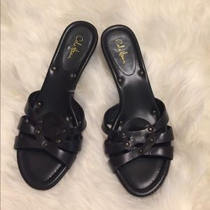 Cole Haan Kitten Heel Slides | Size 8B | Black